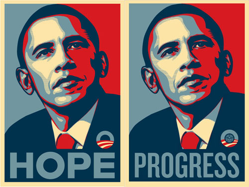 Shepard Fairey/Obey, Barack Obama campaign posters, 2008
