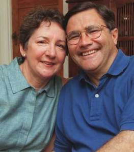 BETTER DAYS: Professor Geoff Gallop and wife Beverley before she was diagnosed with lung cancer. Picture: Jackson Flindell